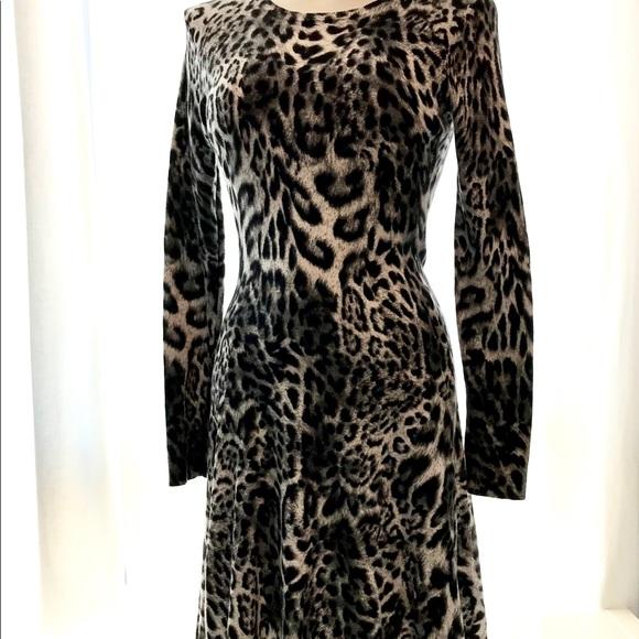 Michael Kors Animal Print Knit Dress